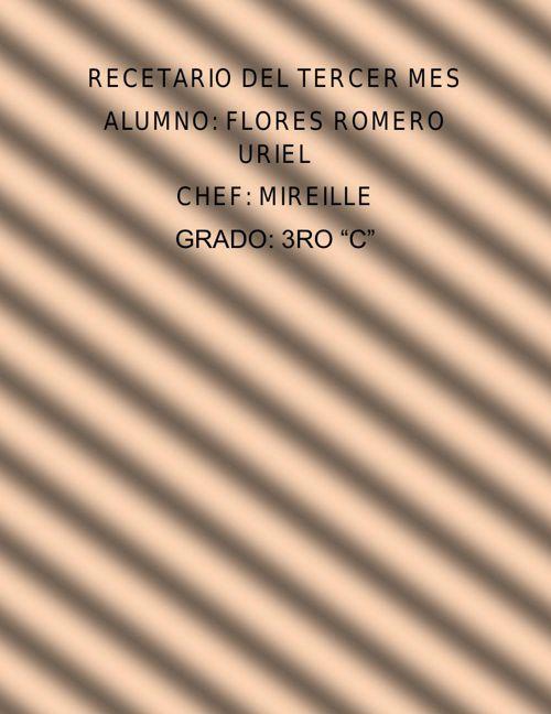RECETARIO DEL TERCER MES