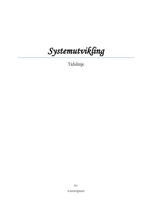 Systemutvikling tidslinje