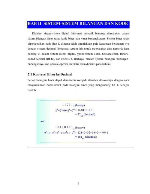 Sistem Bilangan dan Sistem Kode