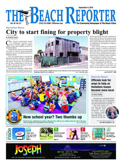 The Beach Reporter | September 8, 2016