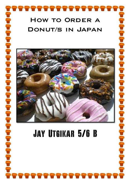 Jay Ordering Donuts