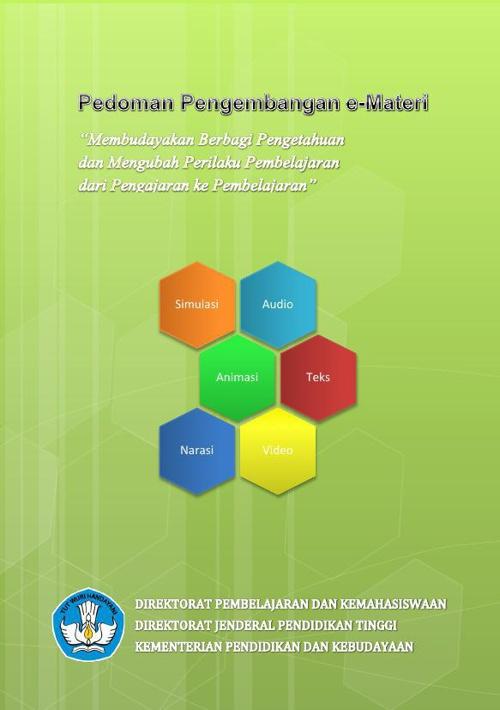 reno aji s materi Pedoman Pengembangan e-Materi DIKTI 2012