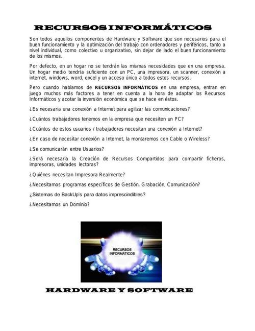 RECURSOS INFORMÁTICOS  CATALOGO 01 - PROFESORA ELVIRA