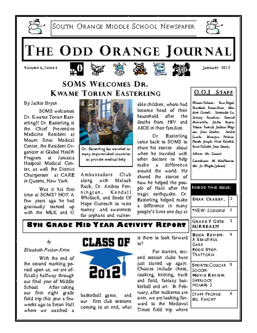 Jan 2012 Odd Orange Journal