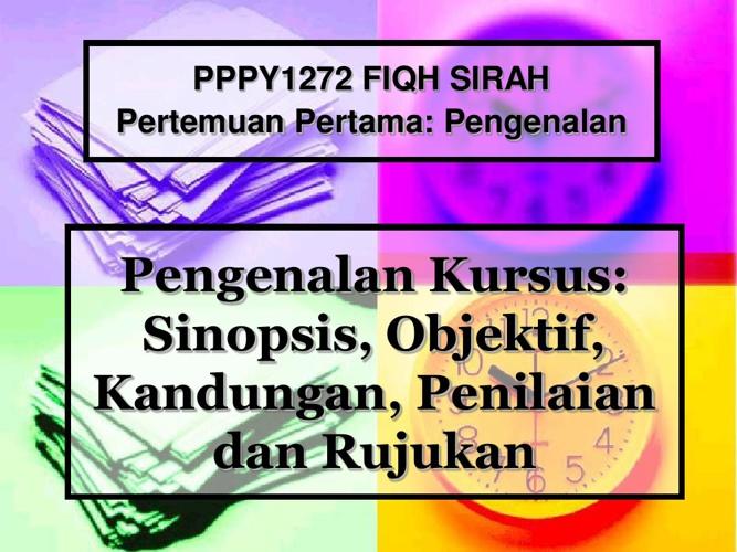 PY1272 Fiqh Sirah (Bab 00-Pengenalan)