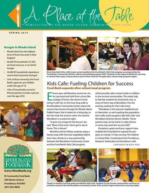 RI Food Bank News - Spring 2014