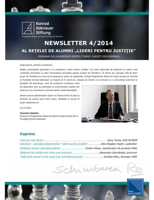 Newsletter Leaders for Justice Alumni Network 4/2014