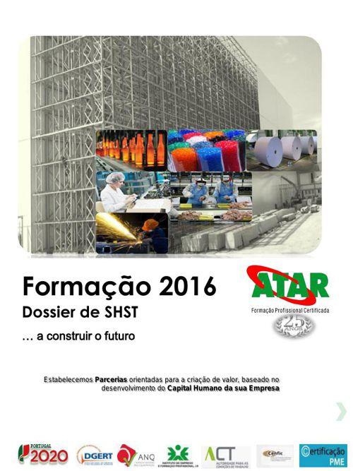 Catálogo Formação 1 º sem 2016 dossier shst