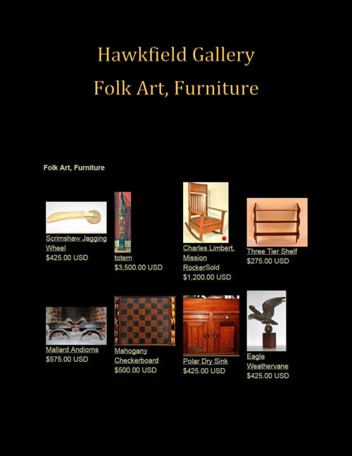 Hawkfield Gallery: Folk Art, Furniture