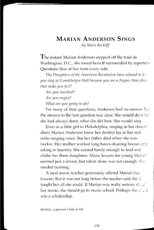 Marian Anderson Sings - by Mara Rockliff