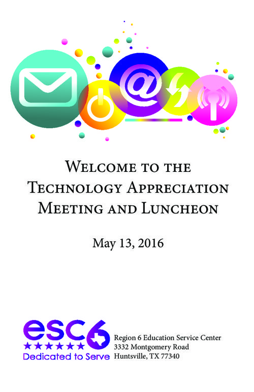 Technology Appreciation Meeting and Luncheon Program