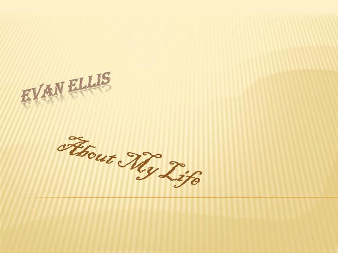 Evan Ellis