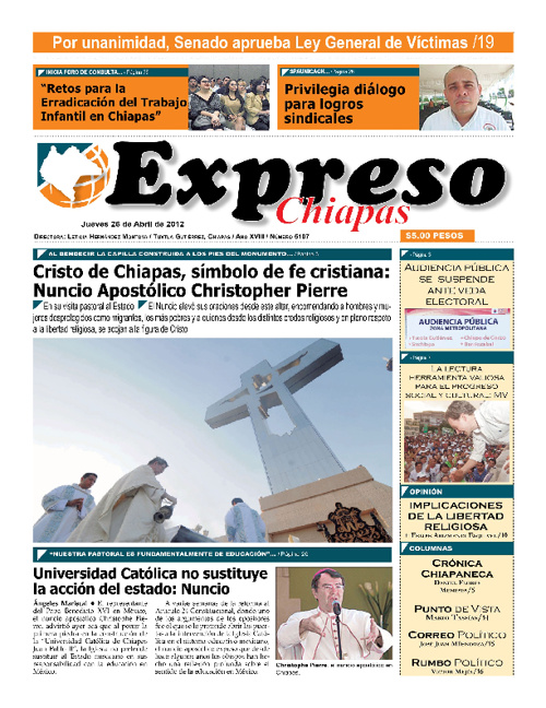 Expreso Chiapas 26 Abril 2012