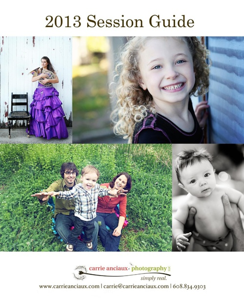 Family Session Client Guide- Carrie Anciaux Photography LLC