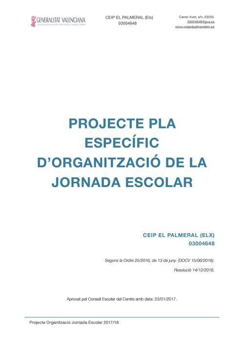 PROJECTE JORNADA ESCOLAR 2017/18