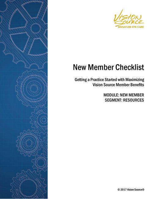 New Member Section_Checklist_09.07.17_v1