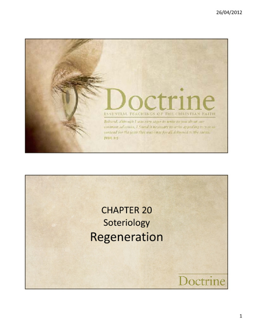 Chapter 20 - Regeneration