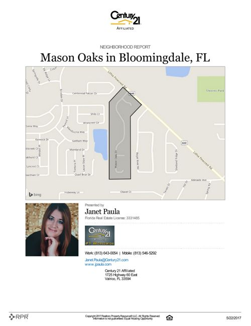 Neighborhood Report for Mason Oaks