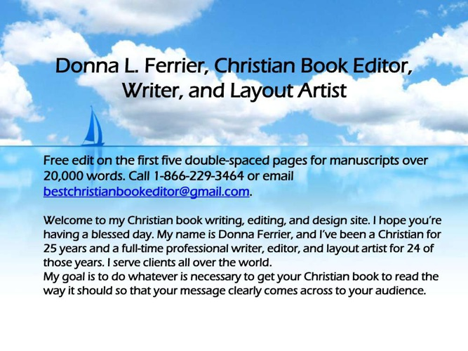 Spiritual book editing services