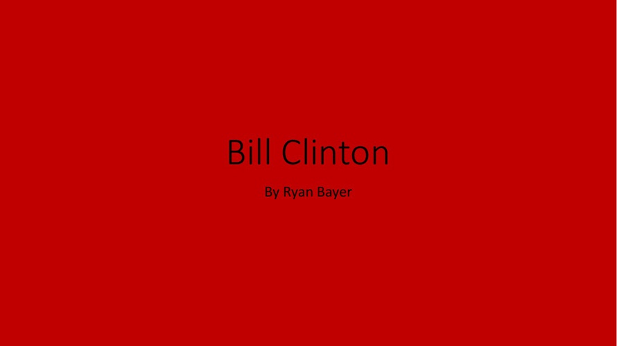 Bill Clinton By Ryan 3-W