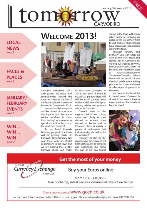 Tomorrow Carvoeiro January/February 2013