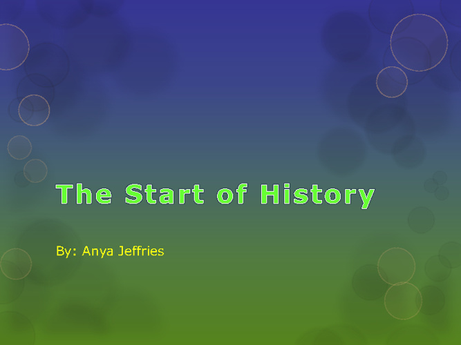 Anya's History