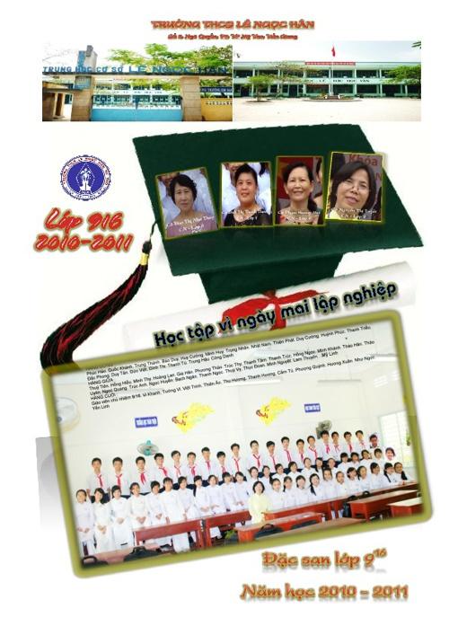Đặc san lớp 9/16 năm học 2010 - 2011