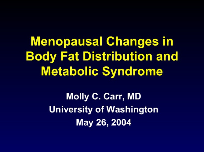 Menopausal Changes