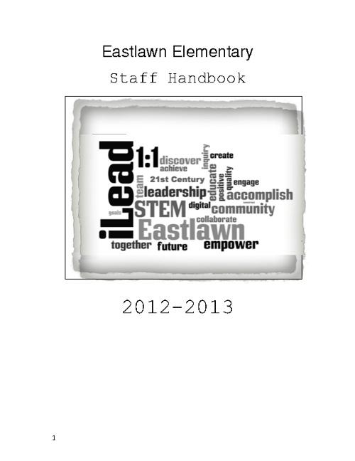 2012-13 Eastlawn Elementary Staff Handbook