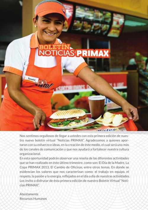 Boletín PRIMAX