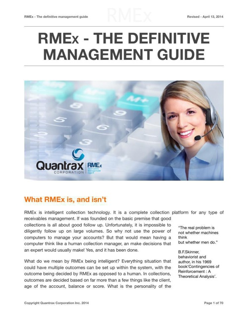 RMEx - The definitive management guide