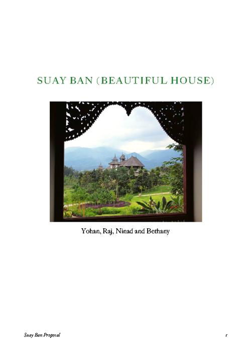 Suay Ban Proposal - Bethany, Ninad, Raj and Yohan