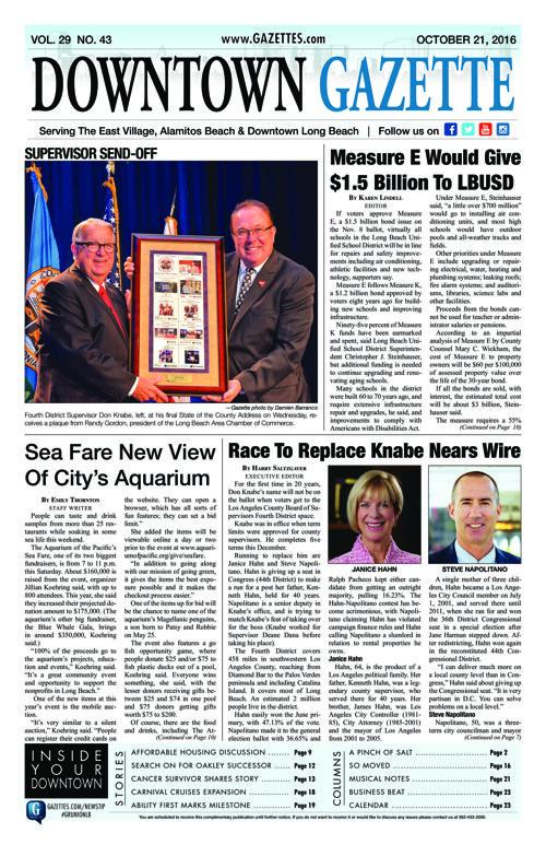 Downtown Gazette  |  October 21, 2016