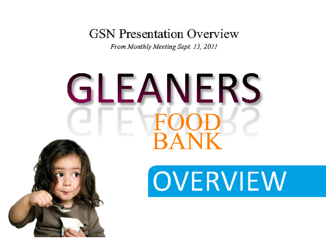Gleaners Presentation Overview