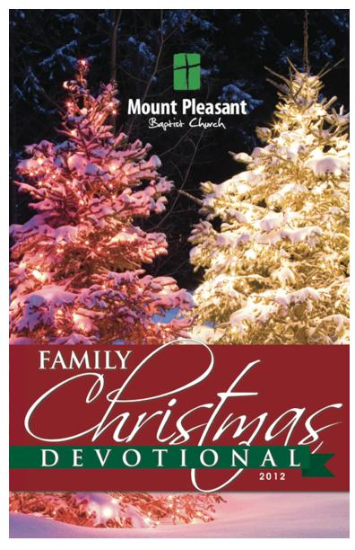 Mount Pleasant Baptist Church - 2012 Advent Devotionals