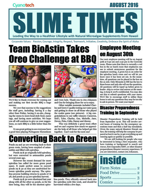 Slime Times - August 2016