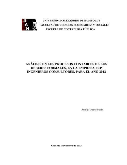 Tesis de María Duarte