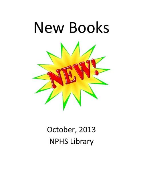 New Books October 2013