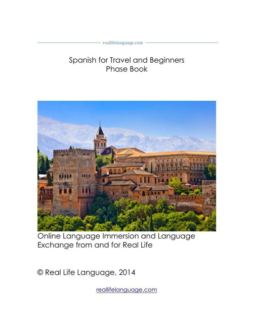 Spanish for Travel and Beginners Flip Book
