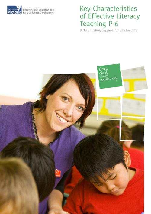 Key Characteristics Literacy P - 6