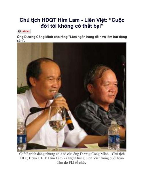 Chủ tịch HĐQT Him Lam