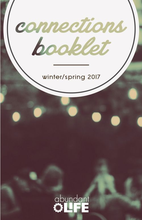Connections Booklet - winter/spring 2017