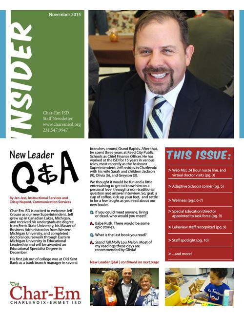Char-Em ISD Insider Staff newsletter - November 2015