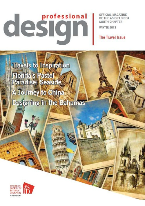 ASID Professional Design - Travel Issue - Winter 2013 Chinese
