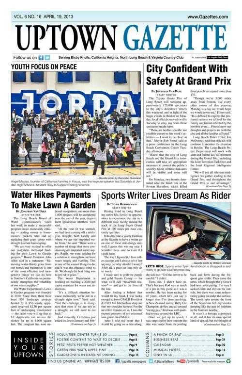 Uptown Gazette     April 19, 2013