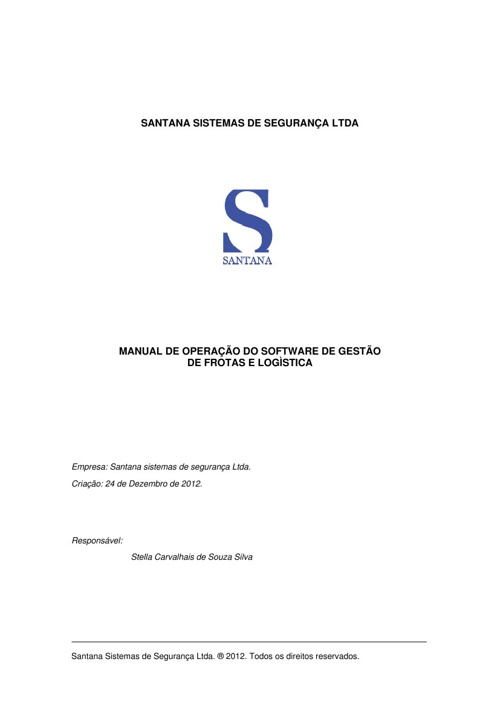 MANUAL DE LOGÍSTICA - RASTREAMENTO