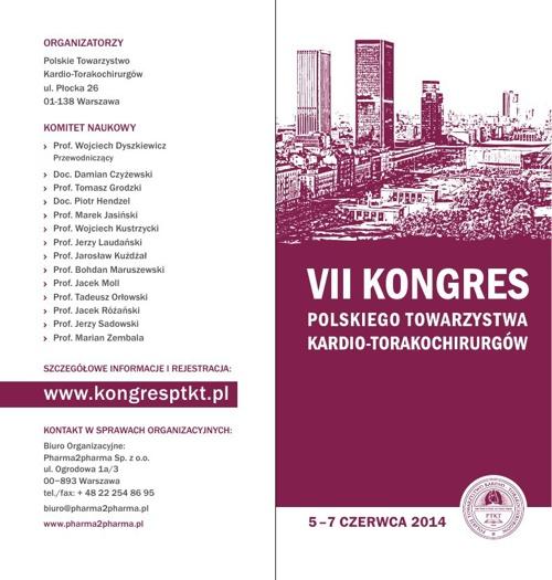 1 Komunikat VII Kongres PTKT 2014 Warszawa