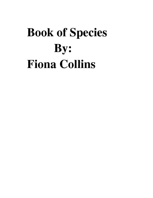 Book of Species: by Fiona Collins