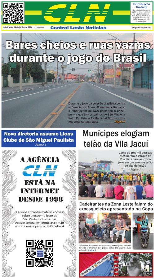 EDIÇÃO 045 JORNAL CLN- CENTRAL LESTE NOTICIAS