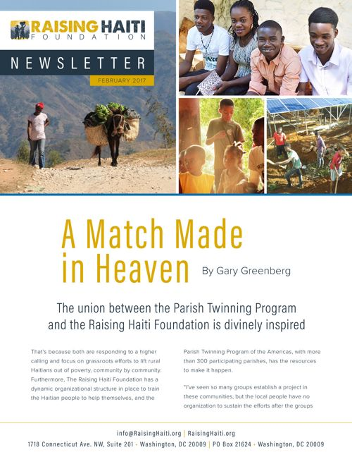 Raising Haiti Foundation Newsletter Feb 2017 • A Match Made in H
